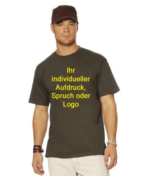 Bedrucktes T-Shirt im Flex- oder Flockfoliendruck