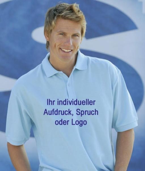 Bedrucktes Poloshirt im Flex- oder Flockfoliendruck